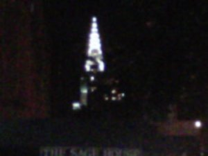 A blurry Chrysler building -- my favorite NYC landmark